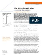 Why Bitcoin to Become Niche Asset