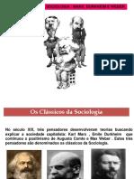Os Classicos Da Sociologia Durkheim, marx e weber