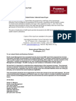 IMF Review and Suggested Tax Increase for the USA