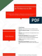 El uso de la pirotecnia en la Provincia de Buenos Aires