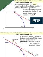 Tariff General Equilibrium