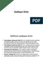 Sediaan Krim