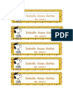 Etiqueta Livro Isabella Snoopy