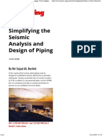 Simplifying the Seismic Analysis and Design of Piping