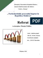 Particularitatile Procesului Bugetar in RM