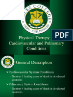 PT in Cardiovascular and Pulmonary Conditions