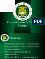 Communication in Physical Therapy