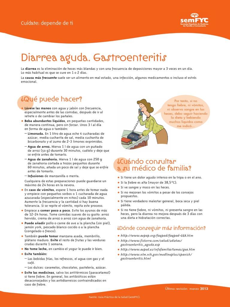 dieta de gastroenteritis aguda