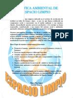 Politica Ambiental de Espacio Limp Rev 01