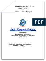Training Report on 220 Kv Substation
