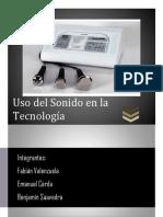 Uso Del Sonido en La Tecnología. Benjamin Saavedra, Fabian Valenzuela, Emanuel Cerda