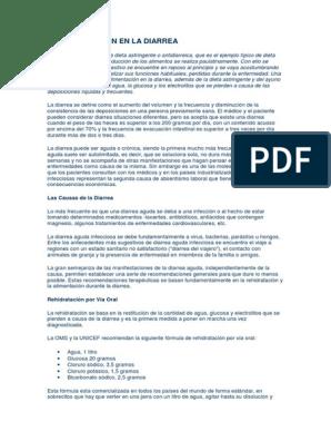 Dieta gastroenteritis aguda pdf
