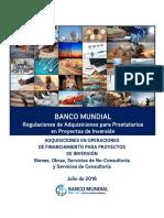 Banco Mundial Proyectos de Inversión