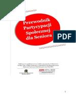 Przewodnik Partycypacji Społecznej Dla Seniora