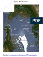 Mapa del Pasaje Noroeste ruso; Fuente