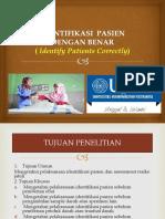 Identifikasi Pasien Dengan Benar Fiks