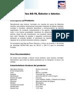 Sipalina Fina AG-10, Exterior e Interior. (1)