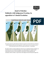In Solidarity With Palestine and All Occupied and Indigenous Peoples