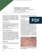 Ateroembolismo Colesterol
