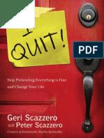 I Quit! by Geri & Peter Scazzero, Excerpt