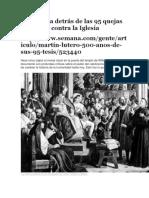 La Historia Detrás de Las 95 Quejas de Lutero Contra La Iglesia