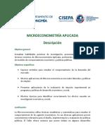 Syllabus-Microeconometría-Aplicada