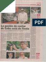 Facsímil El Universal Gabo periodista