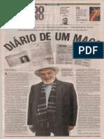Facsímil O Globo Segundo Caderno sobre el Mago Dávila