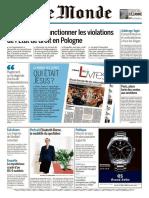 Le Monde Du Vendredi 22 Décembre 2017