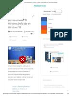 Desactivar permanentemente Windows Defender en Windows 10 .pdf