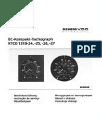 Betriebsanleitung Tachograph 1318- Teilenrr EL-T20602F125KMH