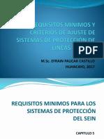 Requisitos Mínimos y Criterios de Ajuste de Sistemas de Protección de Lineas