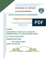 Plan de Sesión Educativa de Quemadurasss
