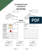Acta Electoral