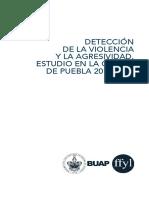 Deteccion de la violencia y la agresión en la ciudad de Puebla 2015-2016