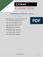 Lista de Montadora Veiculos (Diesel)