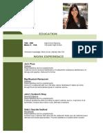 Waitress CV