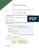Diferencia entre Ecuacion y Fórmula