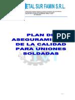 Plan de Calidad Uniones Soldadas Msf
