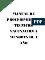 Manual de Procedimientos Tecnicos Vacunas
