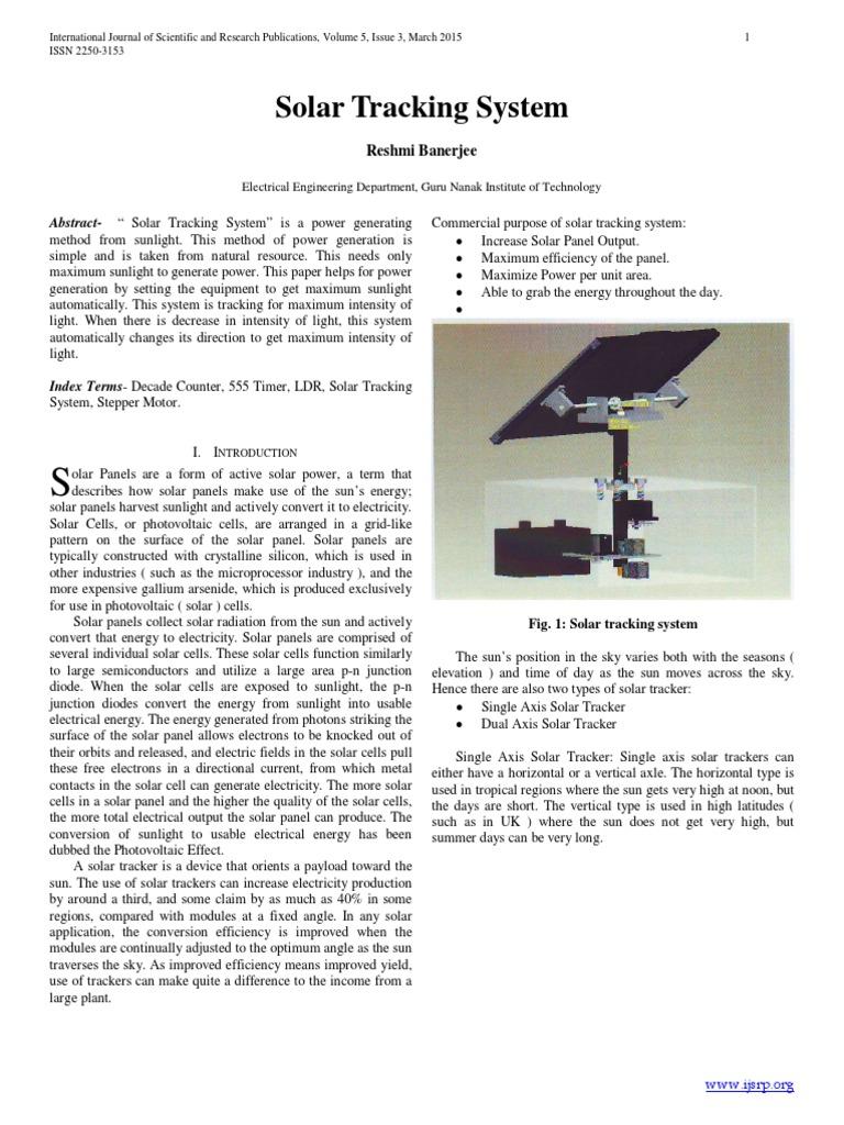 Ijsrp P3923 Copypdf Solar Cell Panel 555 Timer Astable Multivibrator Circuit Technology Hacking