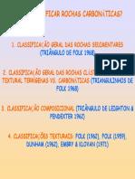 Classificações Rochas Carbonáticas