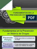 FUNDAMENTOS EN LA PREVENCIÓN EN MATERIA DE DROGAS