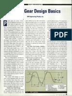 Plastic Gear Design Basics