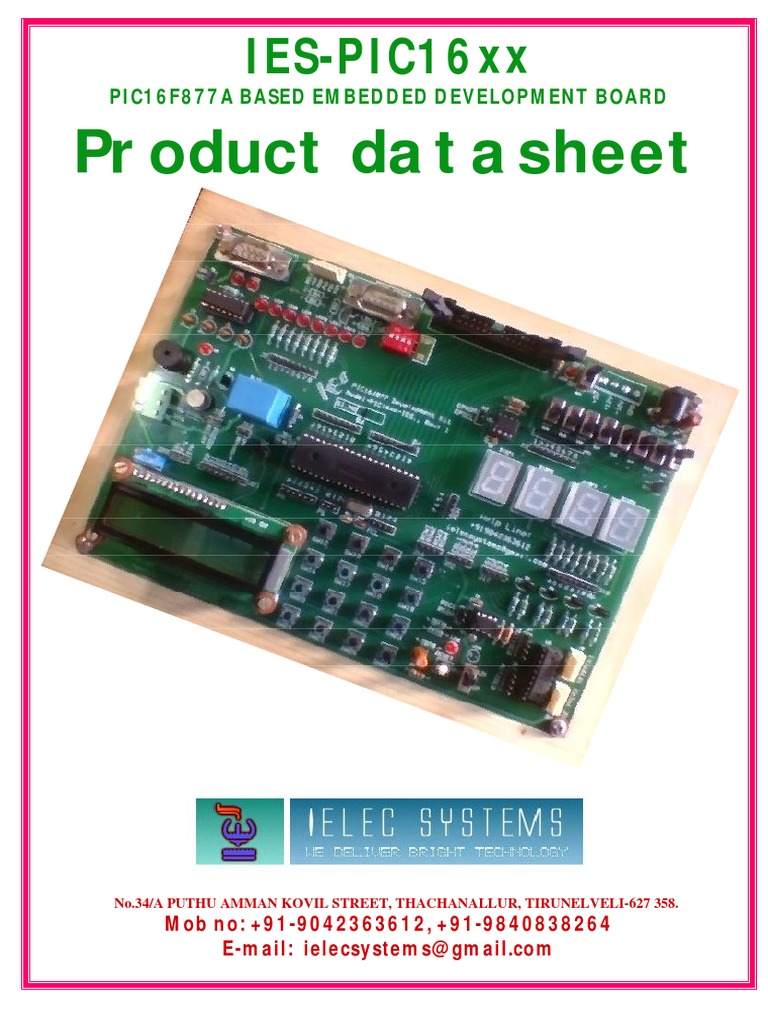 Pic Manual Newpdf Integrated Development Environment Embedded Circuits Icsp In Circuit Serial Programming Board Based On Pic16f84 System
