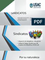 Sindicatos presentacion