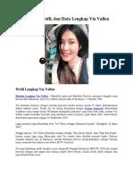 Biodata, Profil, Dan Data Lengkap via Vallen