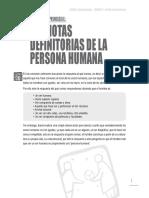Las Notas Definitorias de La Persona Humana