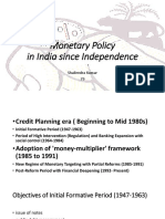 Indian Monetary Policies Since Independence