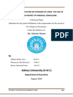 The Impact of Inflation on Standard of Living, The Case of Hargeisa, Somaliland